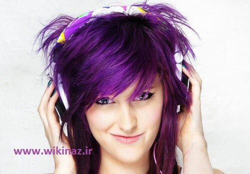 Hair color purple Amazing ir 1 مدل موي دخترانه 2014