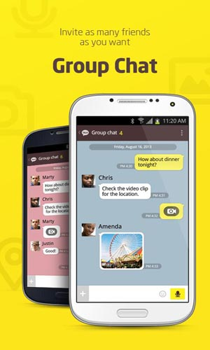 fake kakaotalk chat