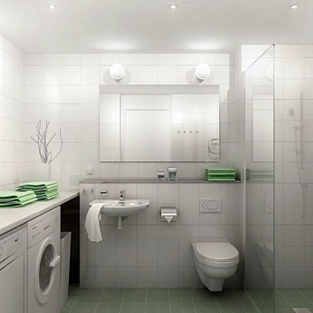 2014 for Small bathroom laundry designs