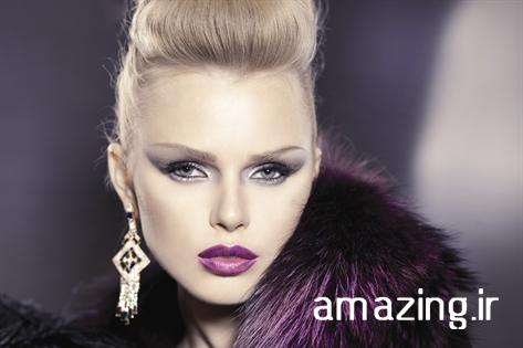 مدل میکاپ صورت و آرایش مو 2014