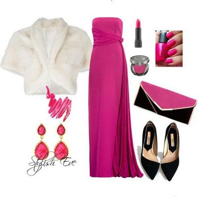 ست لباس دخترانه به رنگ صورتی و قرمز 2013