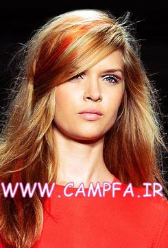 مدل رنگ موهای فانتزی دخترانه  زنانه 92