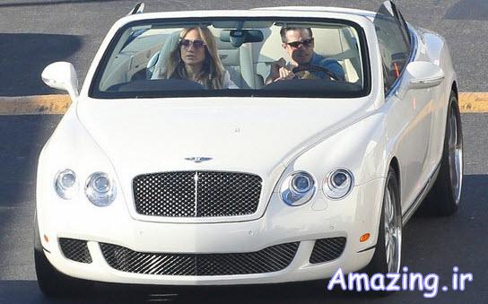 عکس های جنیفر لوپز و نامزدش با ماشین !