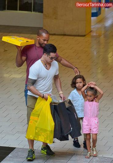 عکسهای جنیفر لوپز به همراه فرزند و نامزدش 2013