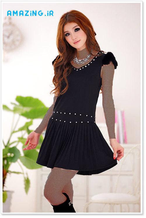 مدل لباس مجلسی کوتاه دخترانه 2014