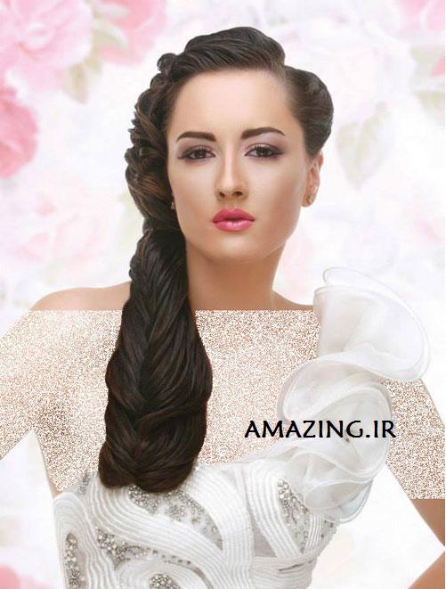 جدیدترین مدل شینیون مو عروس 2014