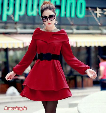 مدل پالتو قرمز دخترانه کره ایی
