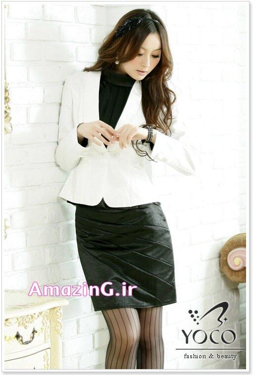 مدل کت و دامن سفید کره ایی 2014