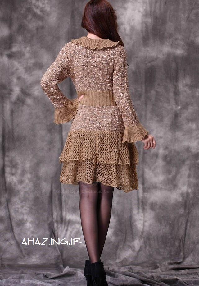 مدل مانتو بافتنی جدید , مانتو بافتنی, مدل لباس زمستانی 2014