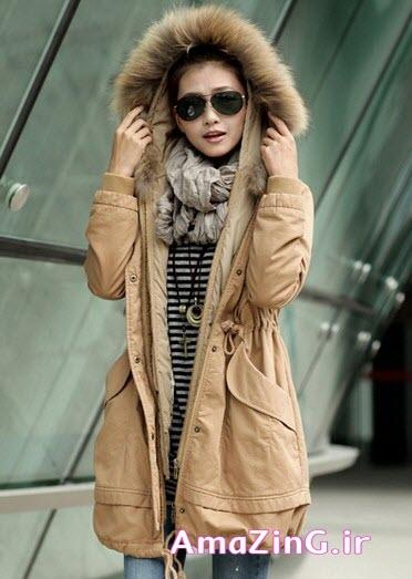 مدل پالتو کلاه دار ,عکس مدل پالتو کره ایی,مدل پالتو دخترانه