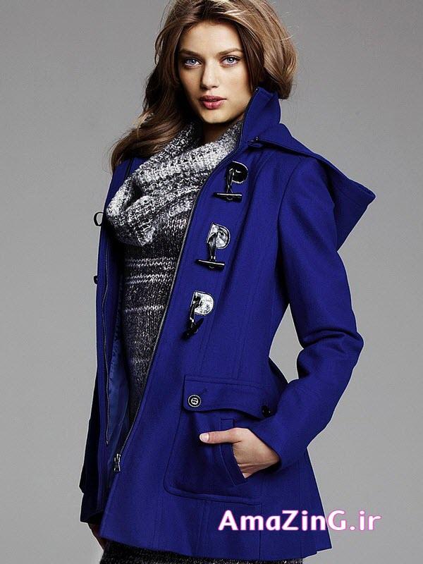 مدل پالتوآبی زنانه,مدل پالتو 2014