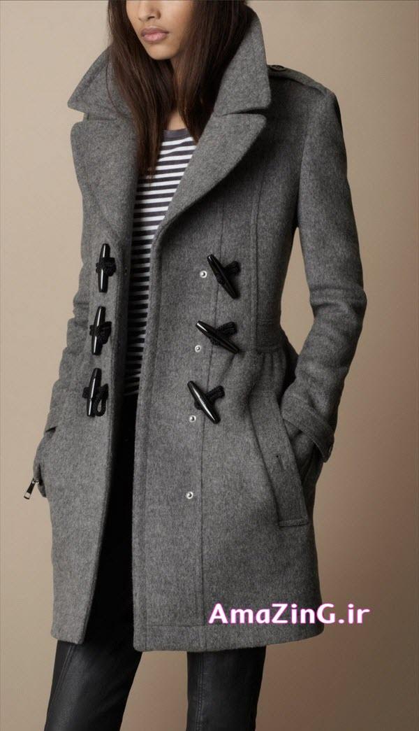 مدل پالتو خاکستری زنانه,مدل پالتو 2014