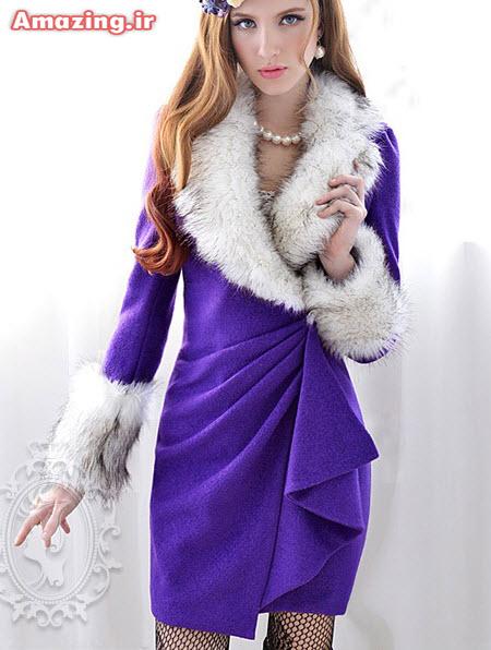 مدل پالتو فانتزی , مدل پالتو آبی , مدل پالتو دخترانه ,مدل پالتو کره ایی