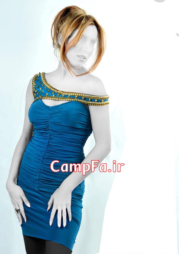 مدل لباس مجلسی کوتاه 2014,مدل سارافون مجلسی ابی