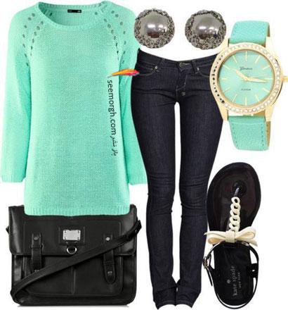 مدل لباس بافتنی سبز 92