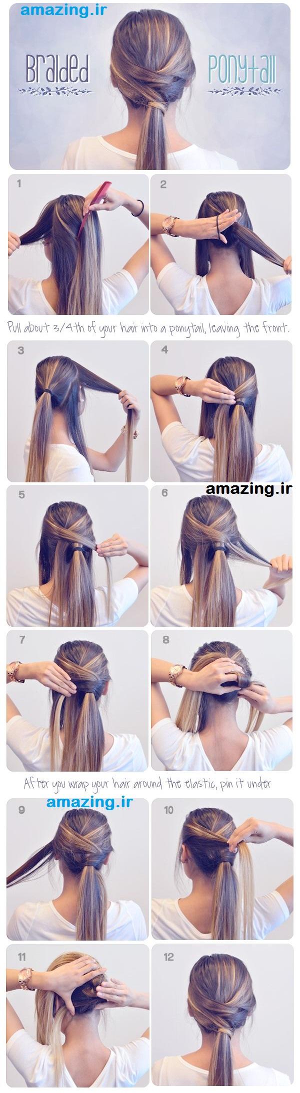 آموزش تصویری بافت مو ,بافتن مو , مدل بافت مو