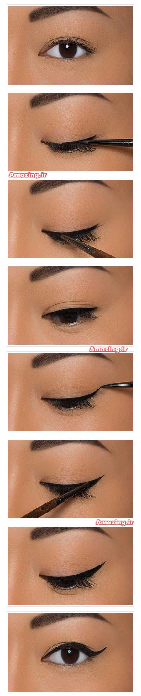 خط چشم , مدل خط چشم ,آموزش خط چشم ,