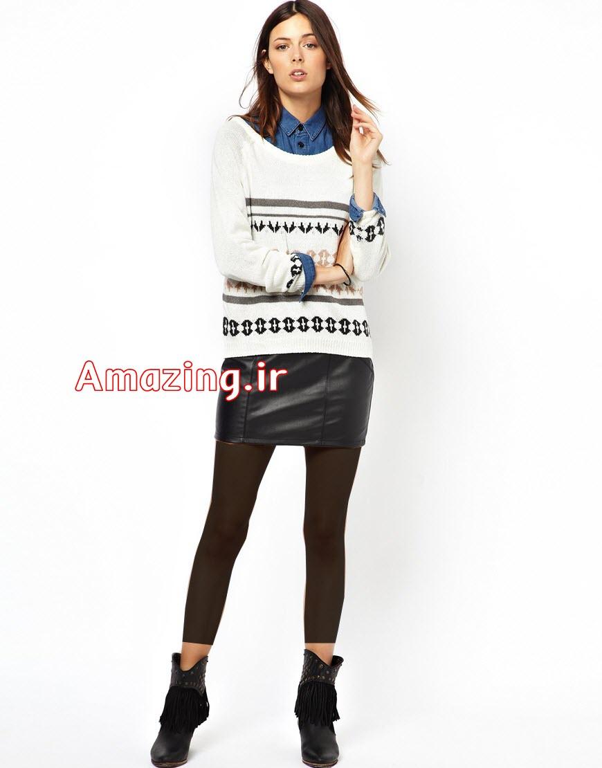 لباس بافت,لباس بافتنی,مدل لباس زمستانی,مدل لباس بافتنی 2014