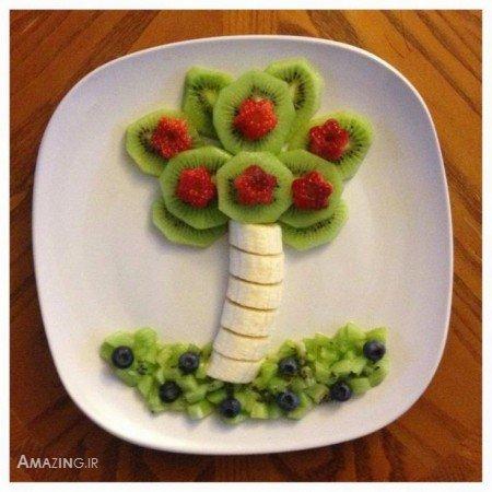 عکس مدل تزیین میوه برای شب یلدا