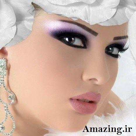 مدل سایه ابرو زیبا ترین مدل های آرایش صورت عروس 2014