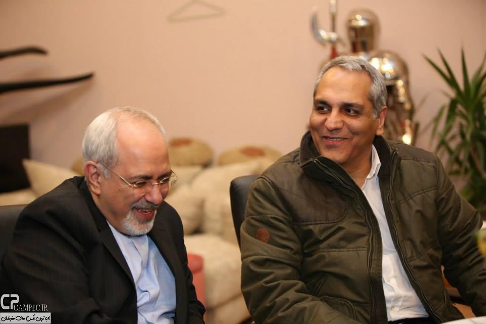 عکس های مهران مدیری و محمد جواد ظریف , عکس های ظریف در سریال شوخی کردم , عکس های پشت صحنه سریال شوخی کردم