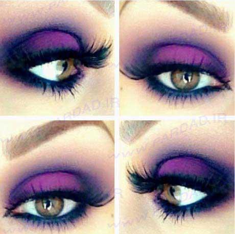 عکس مدل سایه چشم ,  اموزش تصویری ارایش چشم ,  اموزش تصویری سایه چشم زدن  ,  مدل میکاپ چشم 2014