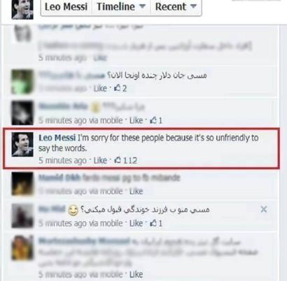 جواب مسی , جواب مسی به کامنت های ایرانی ها