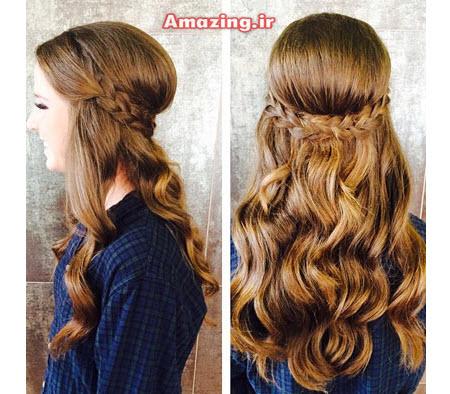 مدل بافت مو برای موهای بلند دخترانه