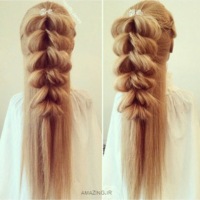 بافت مو , مدل مو , مدل بافت مو جدید , بافت مو دخترانه