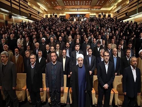 حاشیه های سخنرانی روحانی در دانشگاه شهید بهشتی , عکس های حاشیه های  سخنرانی روحانی در دانشگاه شهید بهشتی