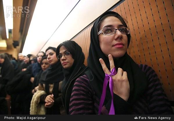 عکس دختران , دختران طرفدار روحانی , عکس دختران طرفدار روحانی ,  عکس دانشجویان طرفدار روحانی ,  عکس دختران دانشجو