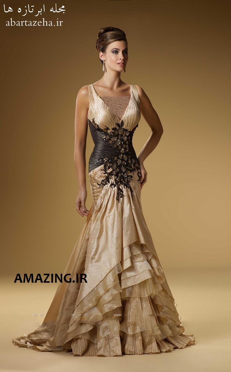 مدل لباس مجلسی حریر 2014 , مدل لباس مجلسی گیپور 2014 , مدل لباس مجلسی اروپایی 2014