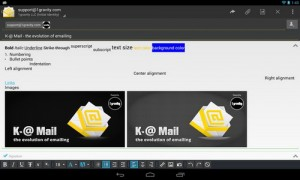 دانلود برنامه اندروید مدیریت ایمیل ها K-@ Mail Pro – email evolved v1.49