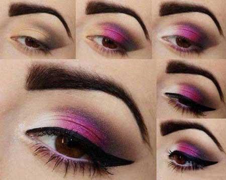 آموزش تصویری آرایش سایه چشم, آموزش تصویری آرایش چشم 93, آموزش تصویری آرایش چشم 2014