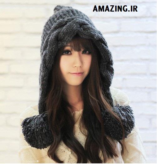 مدل کلاه بافتنی کره ای , مدل کلاه بافتنی دخترانه 2014 , الگو برای بافت مدل کلاه بافتنی