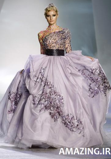 مدل لباس مجلسی بنفش 2014