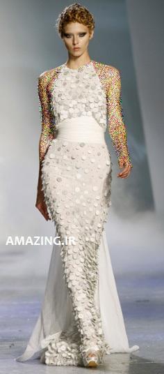 مدل لباس مجلسی سفید 2014