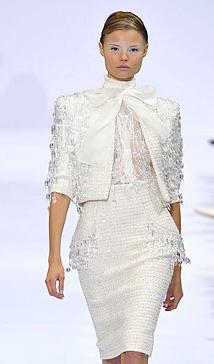 مدل کت و دامن مجلسی سفید 2014