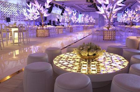 تزیین جایگاه عروس در تالار, تزیینات جایگاه عروس, تزیین تالار عروسی