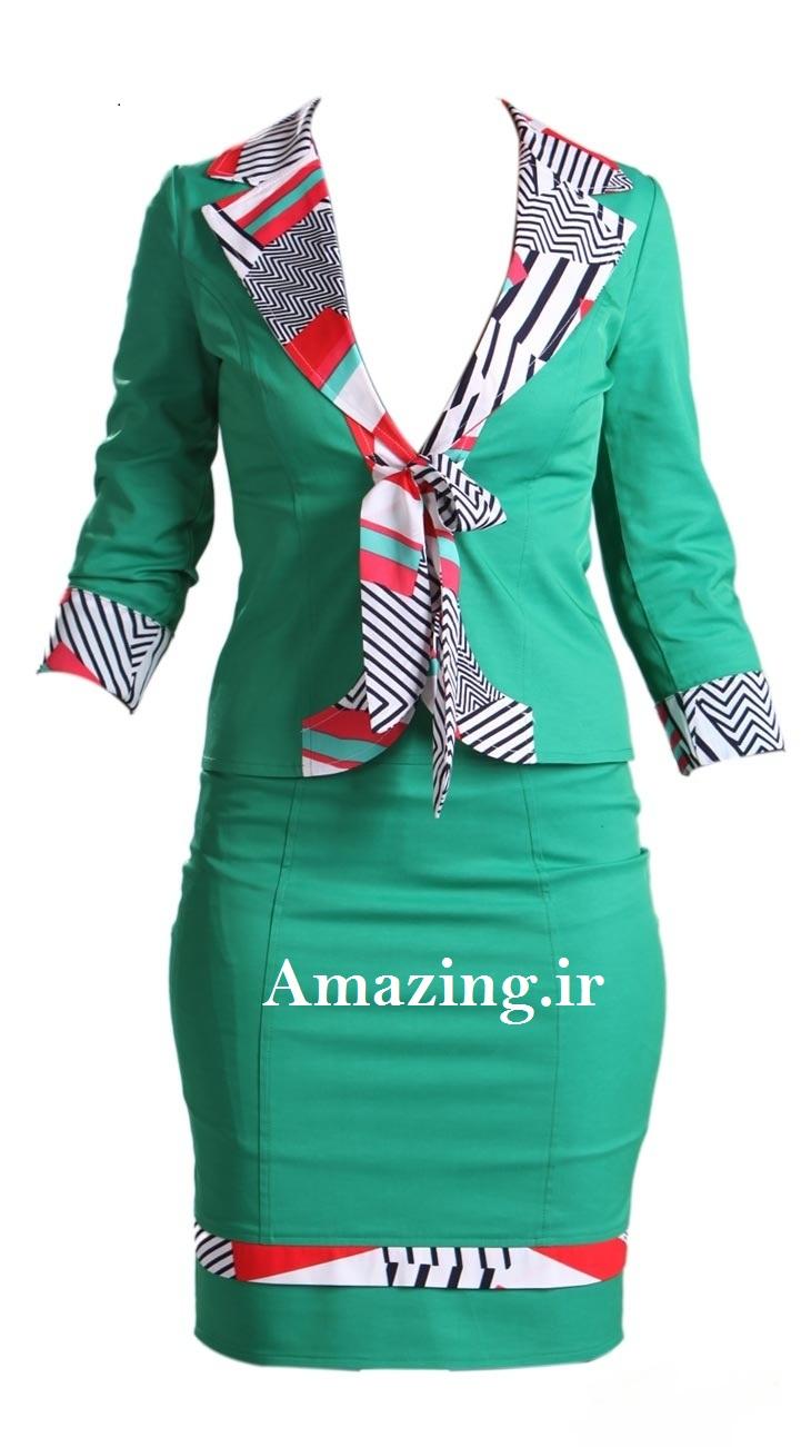 مدل لباس 2014,مدل لباس مجلسی 2014,مدل کت دامن رنگارنگ ایرانی