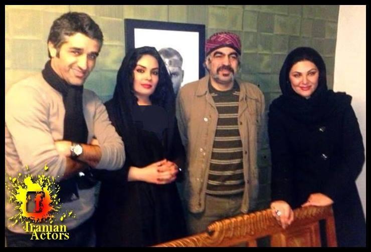 عکس پژمان جمشیدی با بازیگران