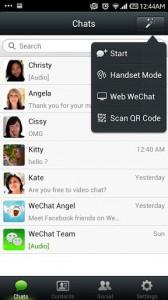 دانلود برنامه اندروید چت رایگان WeChat v5.2