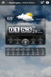 دانلود برنامه اندروید پیش بینی وضعیت آب و هوا Weather Live v2.1