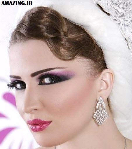 خوشکل ترین مدل آرایش عروس 2014, میکاپ و آرایش عروس 2014,مدل صورت عروس 2014