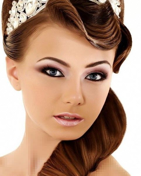 hair styles for oval faces مدل مو عروس مدل آرایش صورت عروس 2014 93 1392