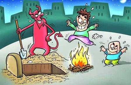 چهارشنبه سوری 92 ,چهارشنبه سوری , عکس , کاریکاتور
