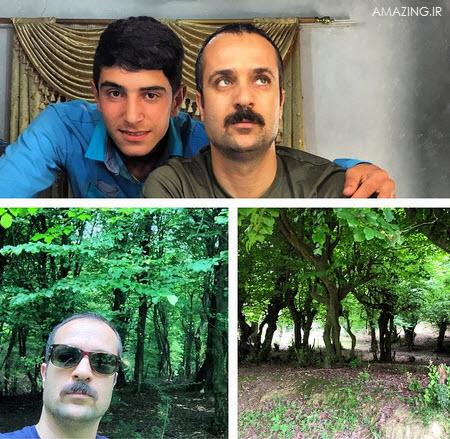 عکس احمد مهران فر در کنار مجید استرس