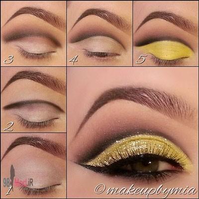 سایه چشم مجلسی, مدل سایه و خط چشم,آرایش چشم,آرایش,آموزش تصویری سایه چشم