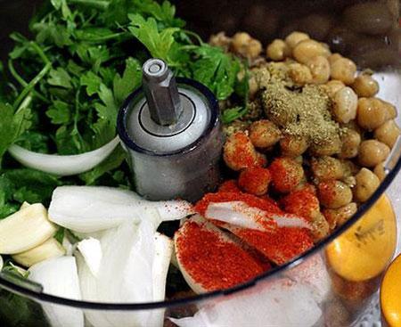 آشپزی,آموزش آشپزی,طرز تهیه فلافل رژیمی,آموزش درست کردن فلافل