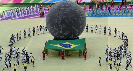 عکس های افتتاحیه جام جهانی 2014 , مراسم افتتاحیه جام جهانی برزیل